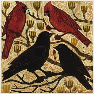 Artist Kent Ambler from creates woodblock prints from carving layers from blocks of wood to present a beautiful image reflecting his life and how he sees it.