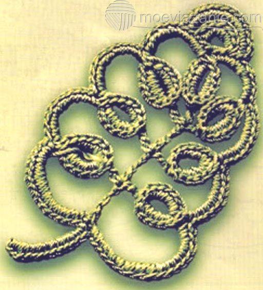 Вязание листочка с завитушками | MoeVjazanie