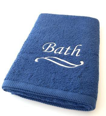 """Ręcznik bawełniany frotte """"Bath"""" w kolorze niebieskim (70 x 140 cm) - BBD"""