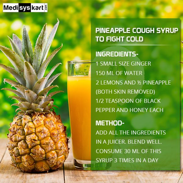 #Mediys #FitTips - Pineapple cough syrup is very helpful to fight with cold.