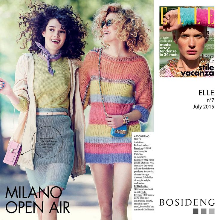 #Press // Around the street of Milan with #BosidengItaly! From July on ELLE magazine. Colors everywhere!