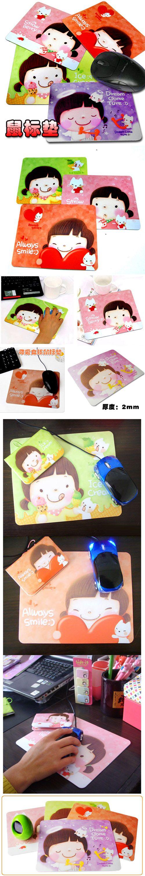Милая девушка мультфильм коврик для мыши корея канцелярские купить на AliExpress