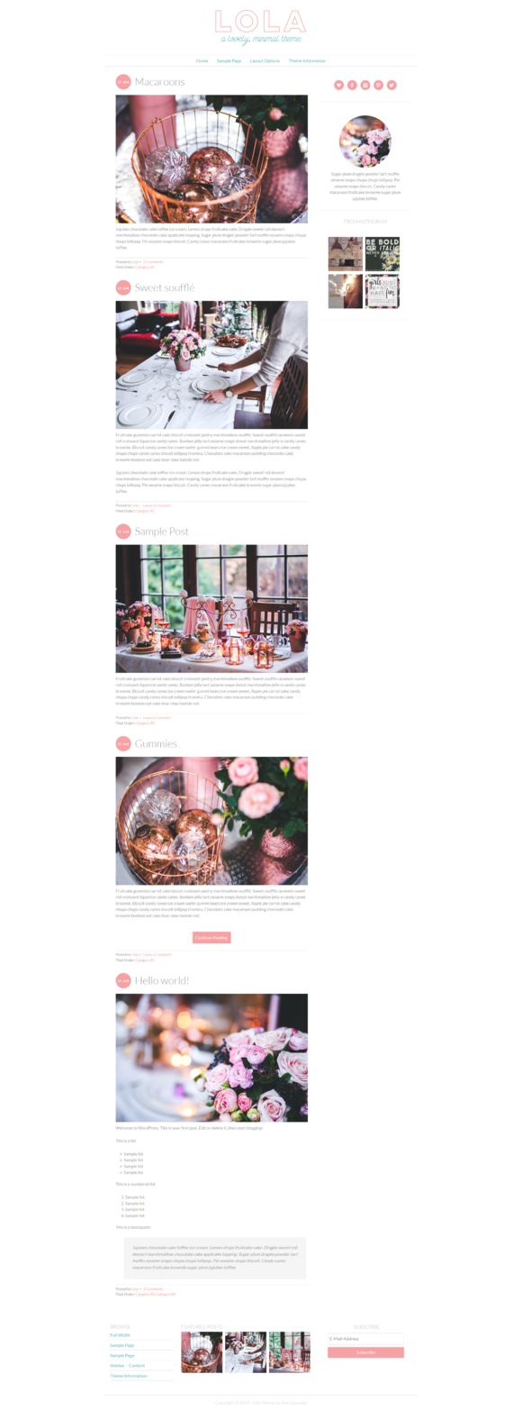 Check out Lola - Lovely, Minimal Theme by Ana Quezada Designs on Creative Market