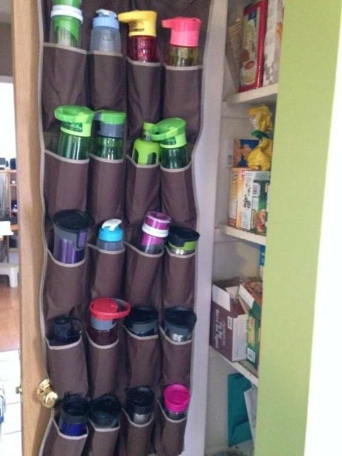 Most people will purchase a shoe organizer (or shoe caddy) to hold their shoes when they no longer have enough room in their closet. But did you know that you could repurpose your shoe caddy to create THIS? Not only does a shoe caddy give you more space, it will