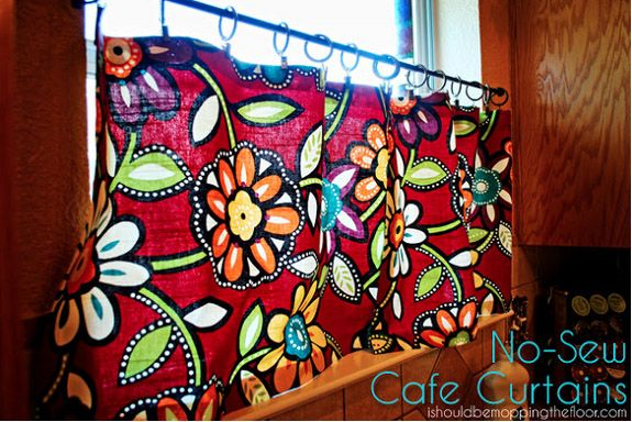 i should be mopping the floor: 12 No-Sew Window Treatments