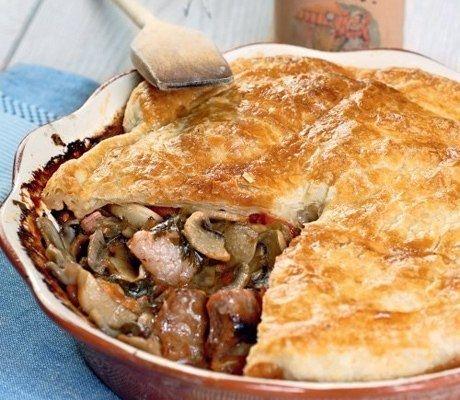 Как приготовить запеканка с мясом и грибами - рецепт, ингридиенты и фотографии
