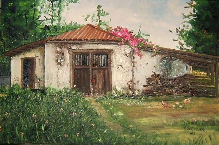 """cochera"" fundo en Leyda, Chile.... òleo sobre tela"