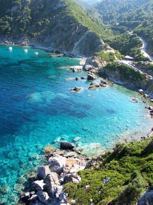 Turquoise Sea, Skopelos Island, Greece