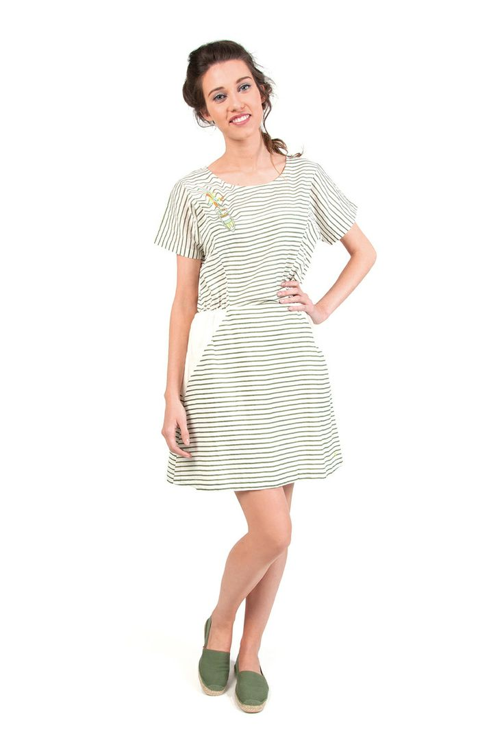 LINDSAY-116 SKUNKFUNK women's dress fabric content: 100% cotton color: white price: $109.00
