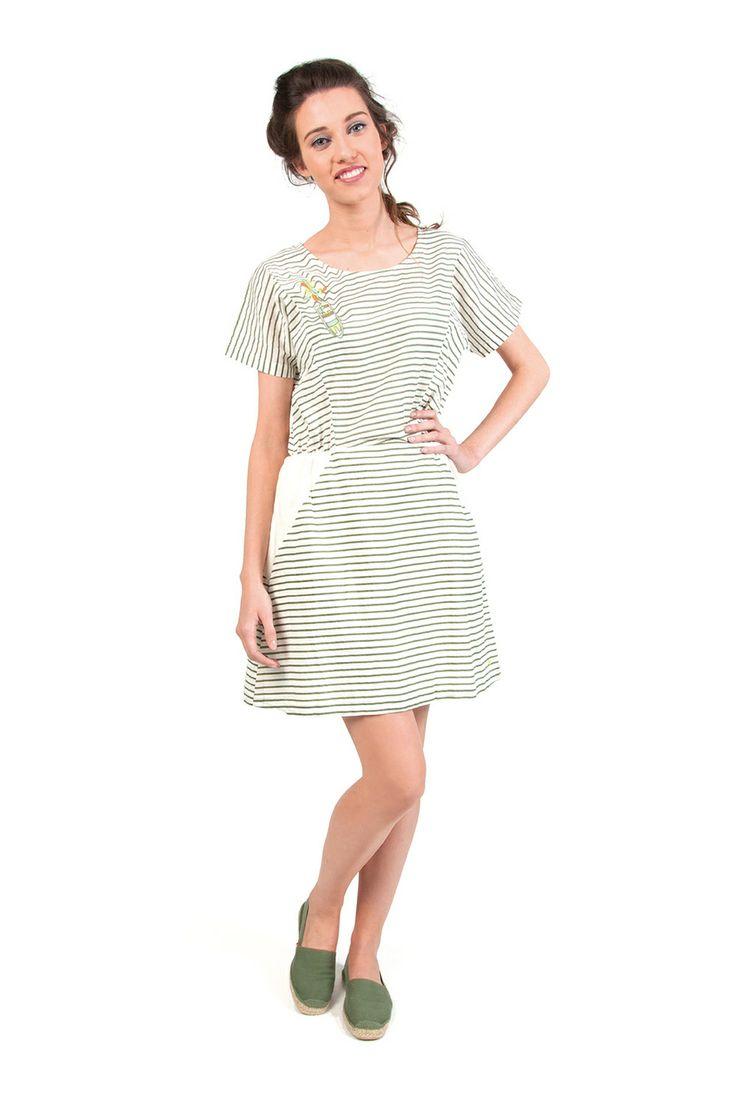 LINDSAY-116 SKUNKFUNK women's dress fabric content: 100% cotton color: white price: $109.00