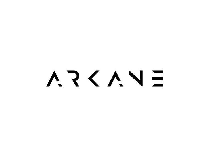 Arcane - Black and White Logo