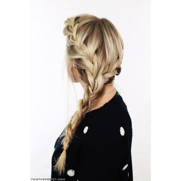 50 Fabulous French Braid Hairstyles to DIY ❤ liked on Polyvore featuring hair, hairstyles, models and pictures
