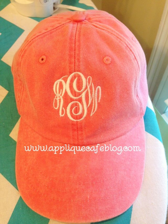 How to monogram a hat or an umbrella from the Cafe Blog by Rosemary Gulledge