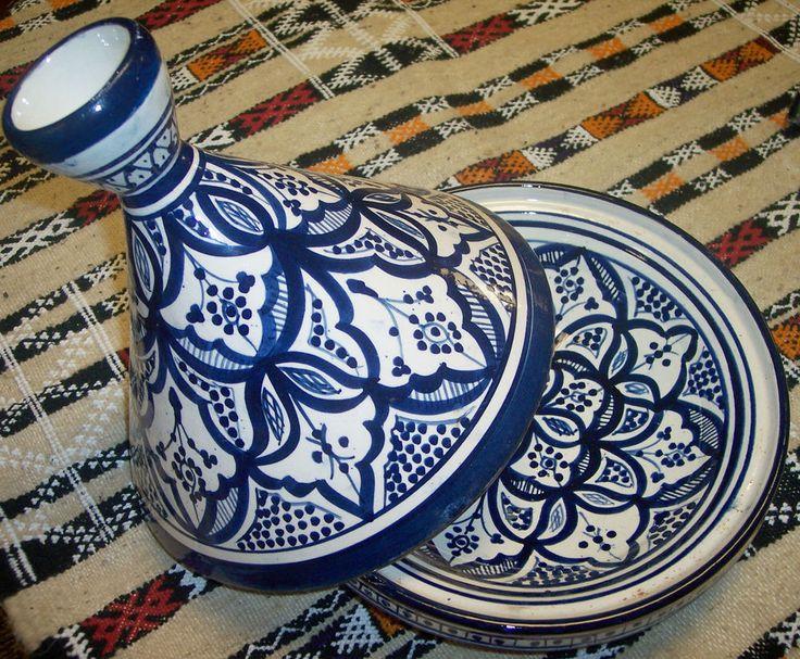 Moroccan Ceramic Tagine,TAJINE Chicken TANGIA Steam COOK WARE Clay Pot Tangine $39.99 Serving Tagine ONLY