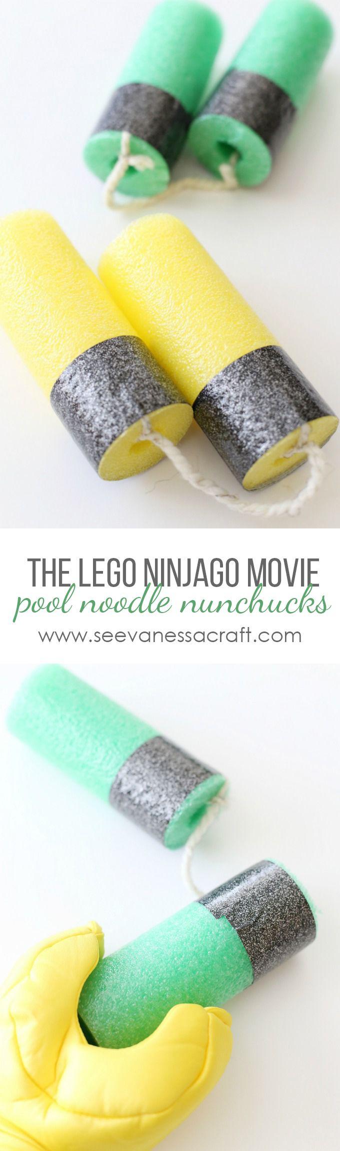 DIY LEGO Ninjago Movie Pool Noodle Nunchucks copy