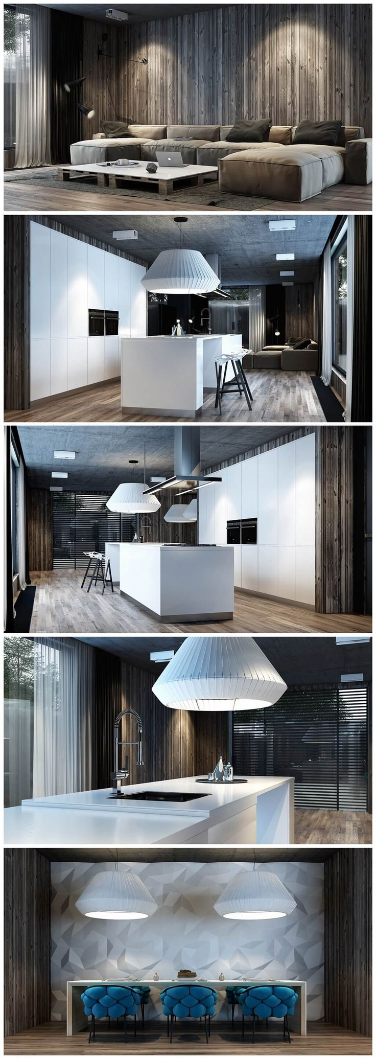 Light On collect 10 ideas for living room interior design with modern style.