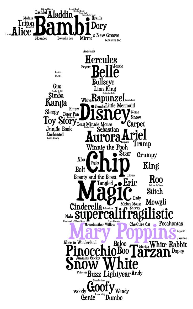 This is a picture of Massif Mary Poppins Word