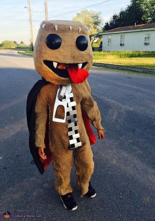 Ramses: Ramses Ray barrientos is wearing the sack boy vampire costume. The idea came from his favorite character in the game little big planet and Pinterest . The materials we used...