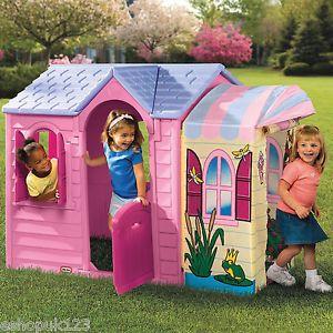 New Little Tikes PRINCESS GARDEN PLAYHOUSE WENDY HOUSE GIRLS PINK | eBay £100