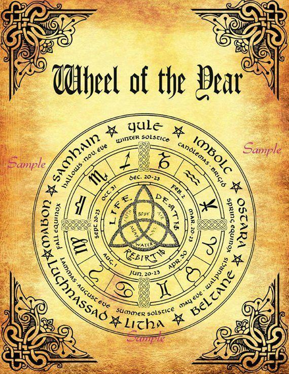 Samhain Book Of Shadows Instant Download Sabbatical Seasons Poster
