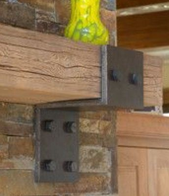 Mantel brackets....maybe if extra support is needed