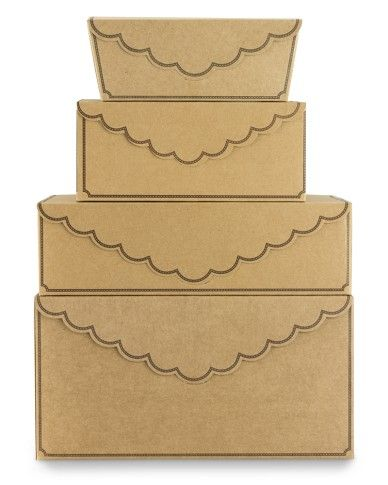 scallop pastry boxes, for all my home-baked gifts