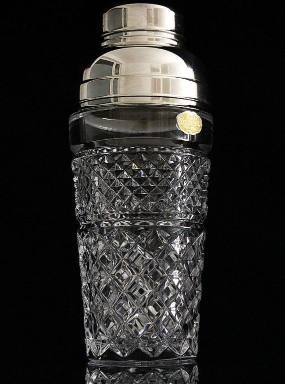 Vintage 50s 60s Cocktail Shaker Lead Crystal by ...