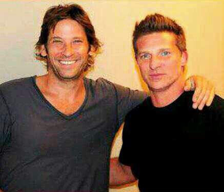 Roger Howarth and Steve Burton on GH 2013  Steve last day on the GH set as Jason Morgan