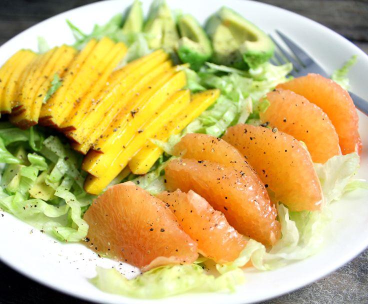 Oppskrift Vegan Sushi Rosa Grapefrukt Fruktsashimi Salat Mango Avokado Sunn Frokost Rettibollen