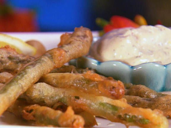 Beer Battered Asparagus with a Lemon Herb Dipping Sauce