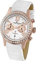Jacques Lemans Porto 1-1810D – Women's Watch, Watch Band Leather White Tone