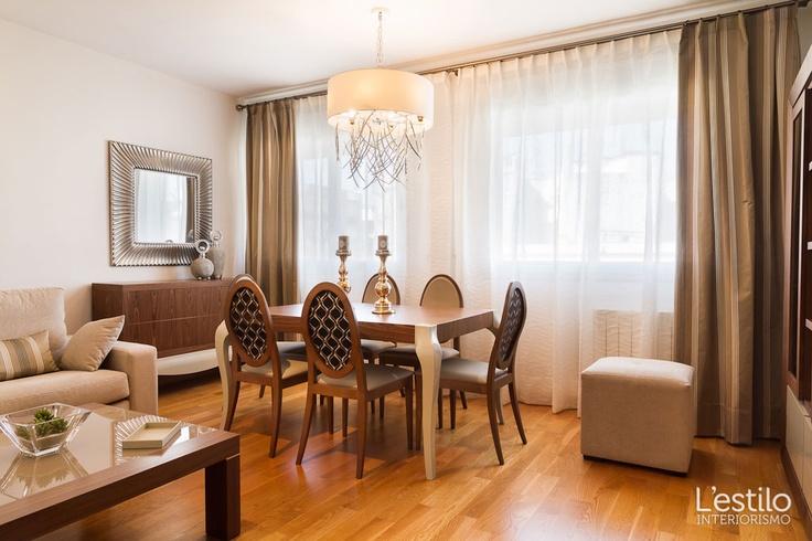 Elegante piso decorado en tonos neutros y maderas nobles en Córdoba capital donde - Proyecto realizado por L'estilo interiorismo.