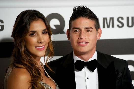 James Rodríguez y Daniela Ospina se casaron en 2010. Daniela es hermana de David Ospina, arquero de la Selección Colombia y del Arsenal.