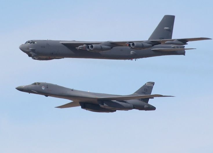 Cool photo of the B-52H and the B-1B, I flew the B-52H for two years at K.I. Sawyer AFB and the B-1B for 8 years at Dyess AFB. Both aircraft are priceless national assets.