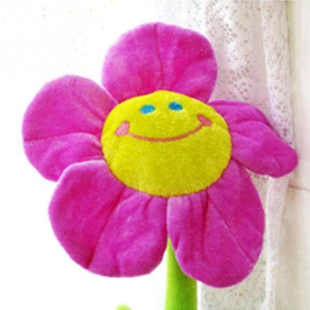 1 Pair Smile Sunflower Curtain Clip Cute Cartoon Curtain Buckles Curtains Hanging Tieback Binds