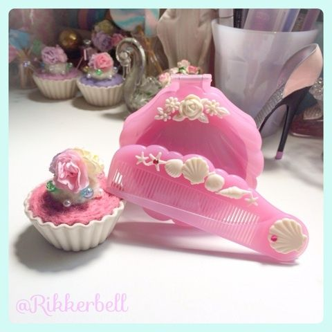 ♡Shell mirror&comb rose