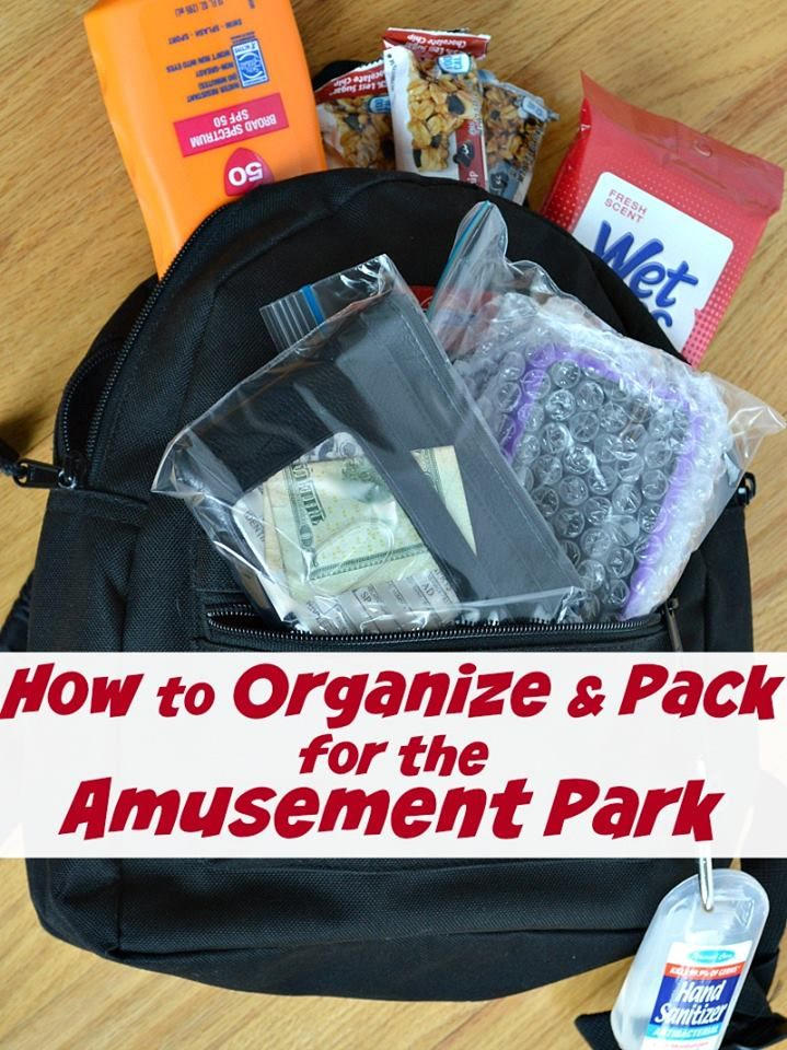 How to Organize and Pack for the Amusement Park