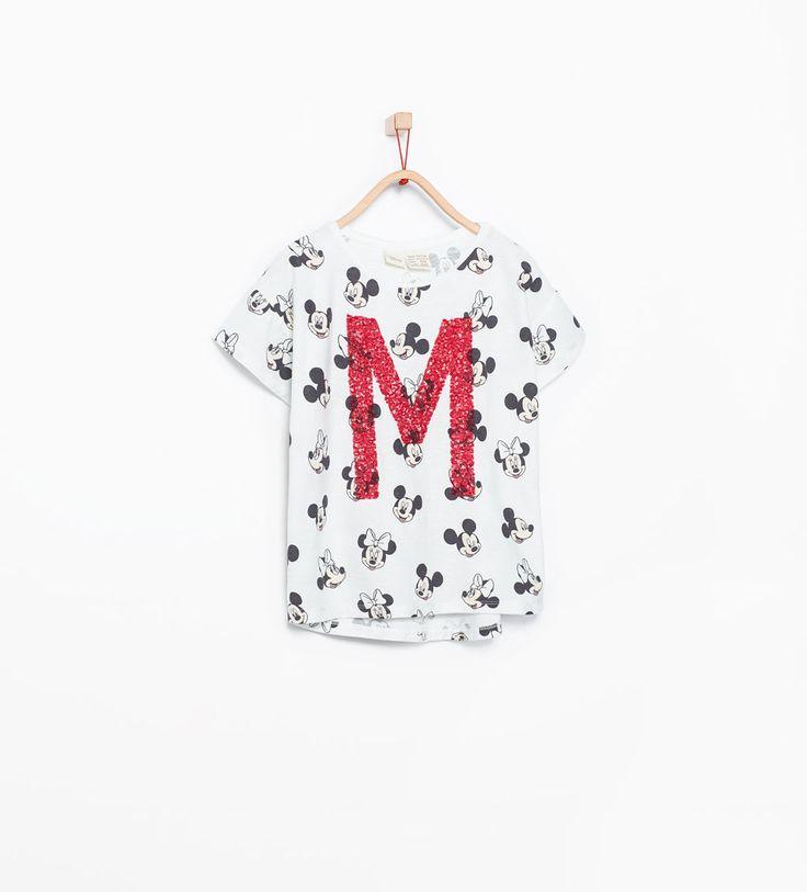 Image 1 de T-shirt Disney à paillettes de Zara