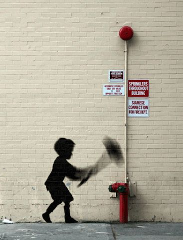 Playful GIFs of Iconic Banksy Artworks