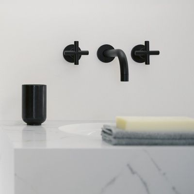 Tara Wall-Mounted Basin Mixer with Cross Handles: Remodelista