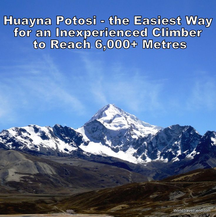 Considered one of the easiest 6,000 metre climbs in the world, Huayna Potosi is a realistic option for average travellers to get very very high.... in altitude terms, obviously. #travel #Bolivia #Mountain #MountainClimbing http://www.worldtravelfiend.com/huayna-potosi-experience-1/