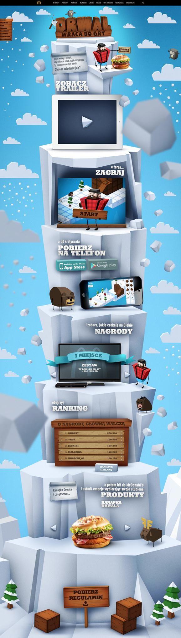 Unique Web Design, McDonald #WebDesign #Design (http://www.pinterest.com/aldenchong/)