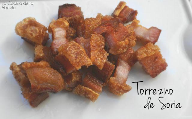Receta para preparar los auténticos totteznos de Soria. Crujientes y sabrosos. La Cocina de la Abuela.