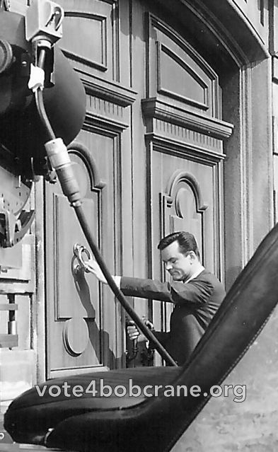 Bob Crane on the set of The Wicked Dreams of Paula Schultz. We interviewed costar Maureen Arthur for Bob's biography, and her memories of filming the movie and working with Bob Crane are profound.