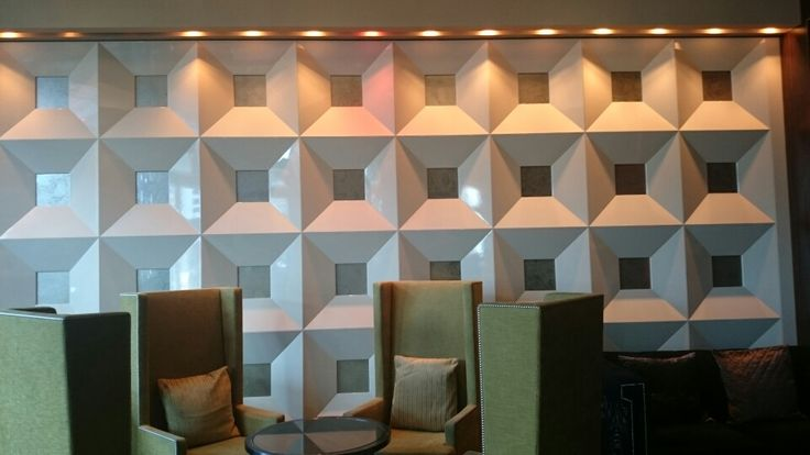 Ph6:synthetic feature wall,geometric pattern