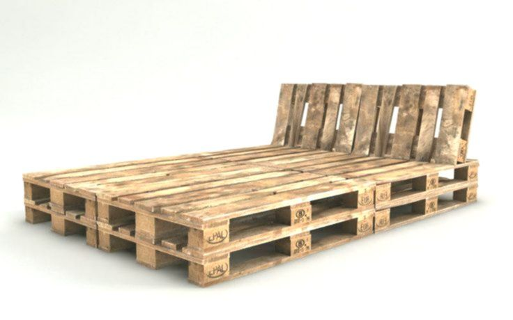 Palettenbett Bauen Ganz Einfach Hier 2 Praktische Varianten Europaletten Bett Palettenbett Bett Aus Paletten Bauen