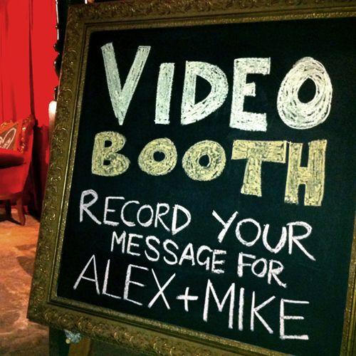 Video Booth! Have your guests leave you great messages right inside our ShutterBooth!