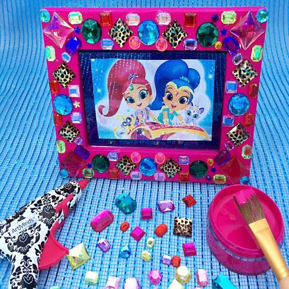 Shimmer and Shine Gem Frame Craft | Manualidades | Pinterest | Frame Crafts, Crafts and Birthday