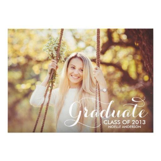SWEETEST GRAD | GRADUATION INVITATION #fineanddandypaperie #classof2013