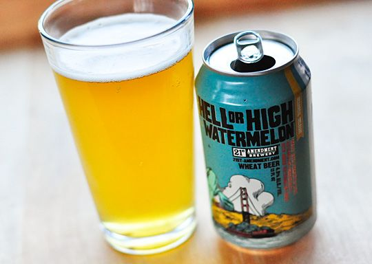Hell or High Watermelon Wheat Beer from 21st Amendment Brewery in San Francisco, CA
